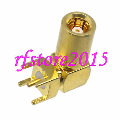 1pce Connector SMB female jack solder PCB mount  RF COAXIAL Right angle