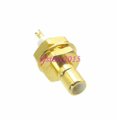 1pce Connector SMB male plug bulkhead solder Panel mount PTFE RF COAXIAL