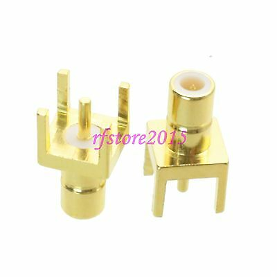 1pce Connector SMB male plug solder PCB mount straight RF COAXIAL