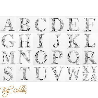 Large 5.5cm Letters Diamante Scrapbooking Self Adhesive Craft Post Box Sticker