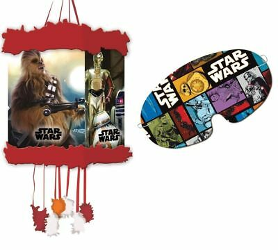 Star Wars Pinata - Official Branded - Pull Sting Mask Loot/Party Game Fillers To