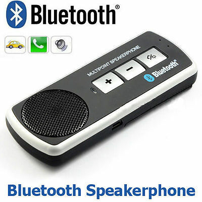 Handsfree Bluetooth Wireless Car Kit Speaker Phone Visor Clip for iPhone Android