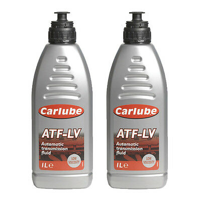 2 x Carlube ATF-LV Automatic Transmission Fluid Low Viscosity Synthetic 1 Litre