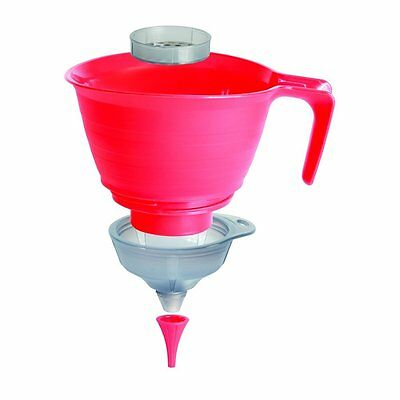 Multi-use 3 in 1 Funnel Strainer Set Kitchen Cooking Canning Pickling Lab Flask