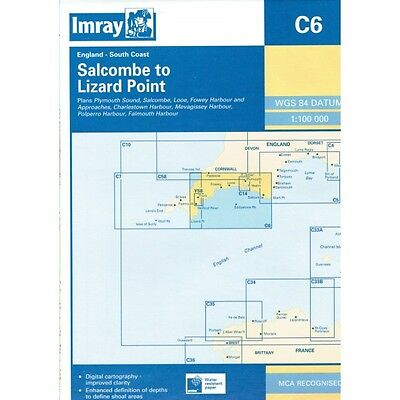 CARTE MARINE IMRAY C6 START POINT TO LIZARD PT alciumpeche