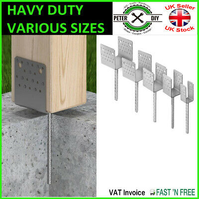"Heavy Duty Galvanised (""Y""Wide Shape) Post Fence Foot Anchors 5 Sizes Thick: 4mm"