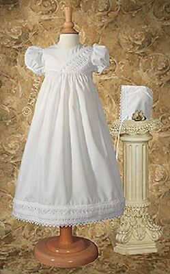NWT Girls Gown PC28GS Cotton Heart Trim Baptism 70% Off STORE CLOSING SALE
