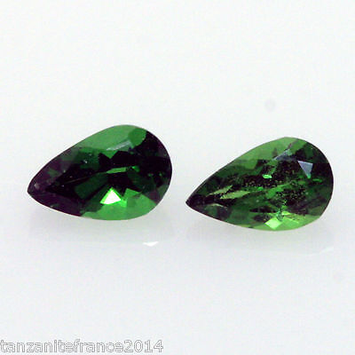 0,56 cts,TSAVORITE NATURELLE  2 pierres assorties   (pierres précieuses/ fines)