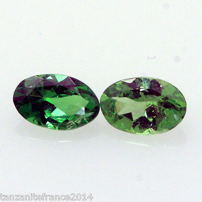 0,48 cts,TSAVORITE NATURELLE  2 pierres assorties   (pierres précieuses/ fines)