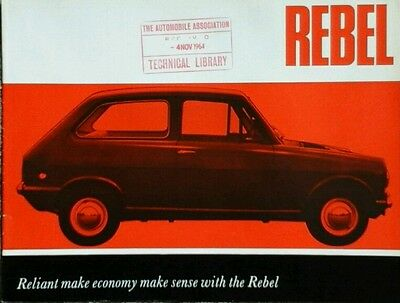 Reliant Rebel Launch Brochure - c.1964