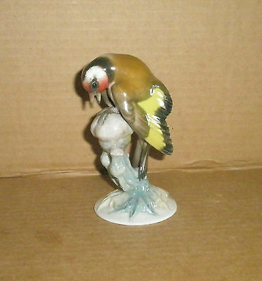 Rosenthal Bird Figurine Goldfinch on thistle