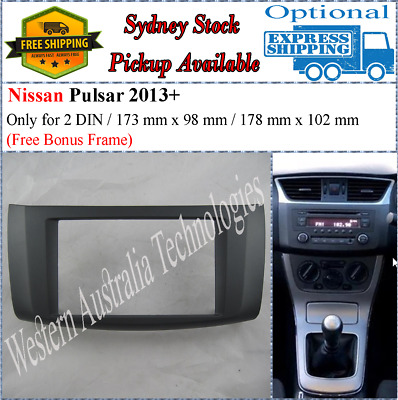 Fascia facia for Nissan Pulsar 2013+ dash kit panel For Stereo DVD GPS Radio