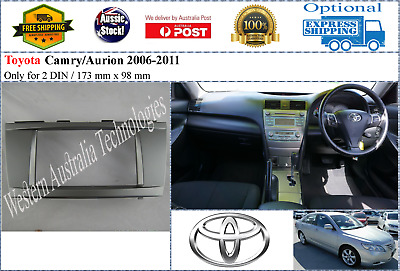 Fascia facia Toyota Camry Aurion 2006-2011 173mm Double Two 2 DIN Dash Kit