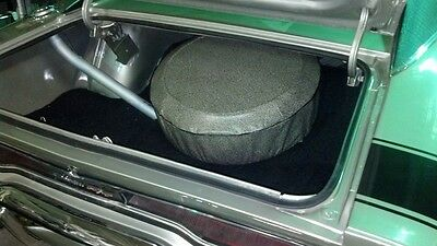 """Vintage Speckled Spare Tire Cover W/ Board 26"""" Trunk Ford GM Chrysler Mustang"""