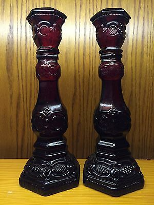 Avon 1876 Cape Cod Collection Candlesticks in Box never used