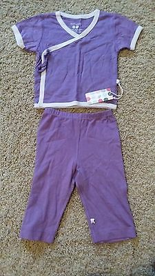 BabySoy Girl Baby Infant Outfit Clothing Set Sizes 0-3M, 3-6M Nwt Eco Friendly