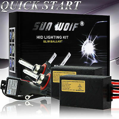 AC 35W 55W Xenon HID Light Conversion KIT QUICK START H1 H3 H4 H7 H9 5000k 6000k