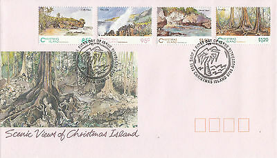 Christmas Island 1993 Scenic Views of Christmas Island FDC