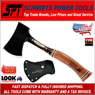 """Estwing E24Asea 13"""" Special Edition Sportmans Camping Axe Leather Handle"""