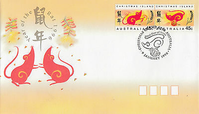 Christmas Island 1996 Year of the Rat FDC