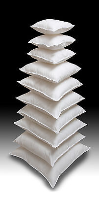 """Extra Filled New Feather Cushion Pads Inners Scatter Fillers Inserts 10"""" to 24"""""""
