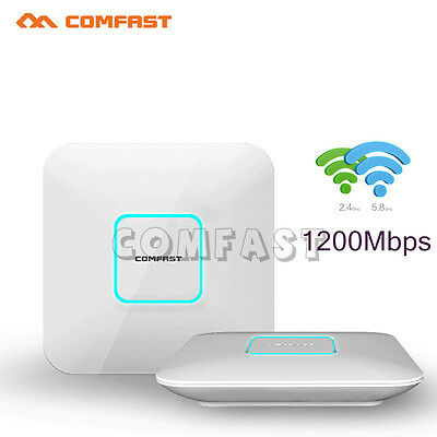COMFAST 1200Mbps 2.4G/5GHz DUAL BAND AC WIFI ACCESS POINT Indoor POE Adapter