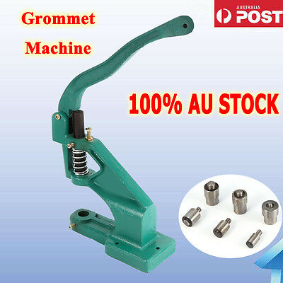 Heavy Duty Grommet Hole Punch Machine /Eyelet puncher Hand Press Tool AU Stock