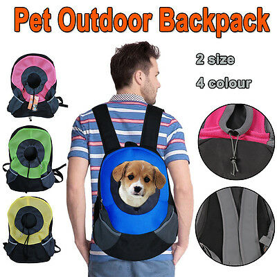 Sports Traveling Holder Pet Double Backpack For Cat Dog Cat Carry Tote Bag S//M