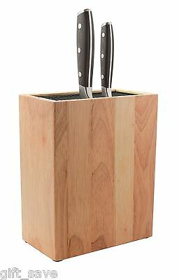 Grunwerg Universal Kitchen Knife Storage Block Wooden Holds 20 Knives Holder