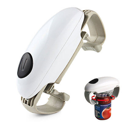 Automatic Electric CAN Tin Bottle Grip Opener Touch Operater Jar Tool Open can