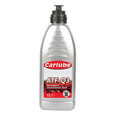 Carlube ATF-Q3 Dexron 3 Automatic Transmission Power Steering Fluid - 1L