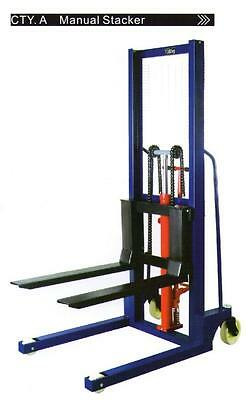 Hand Stacker Forklift 1 Ton 1.6 Meter CtyA  Hydraulic Lifter Pallet