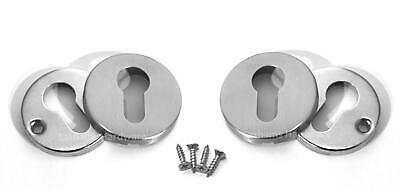 Escutcheon Plates, Euro Cylinder, #304 Stainless Steel, Door Lock, Key Hole,Sets