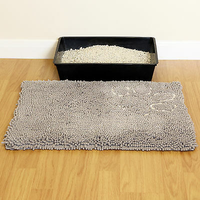 Cat/Kitten Large Litter Tray Mat Big Anti Tracking Pan/Toilet Floor Paw Clean XL