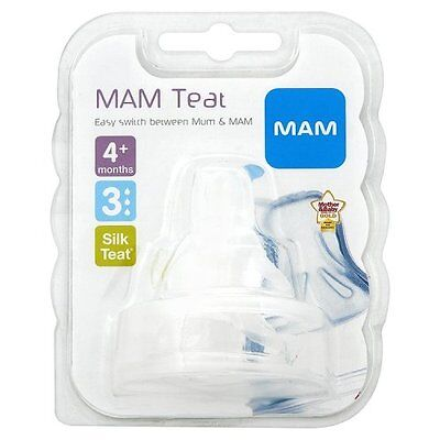 MAM Fast Flow Teats 4+ Month 2 Pack Baby Bottle Free Next Day Delivery NEW