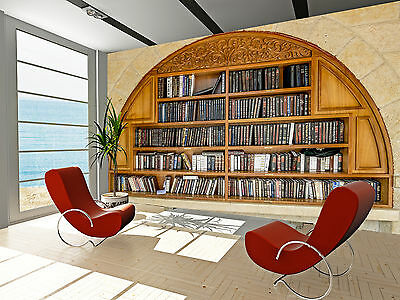 Book Shelves Wall Mural Photo Wallpaper GIANT DECOR Paper Poster Free Paste