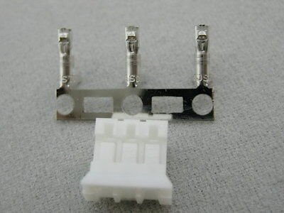 10 sets JST PHR-3 HOUSING (3WAY, 2.0 MM) with crimp contact SPH-002T-P0.5S