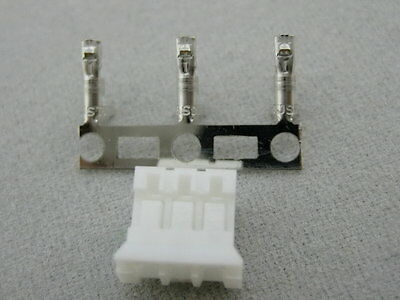 20 sets JST PHR-3 HOUSING (3WAY, 2.0 MM) with crimp contact SPH-002T-P0.5S