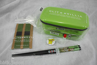 お弁当 BENTO BOX - Lunch Box - Kit GLIT & BRILLIA VERT + baguettes MADE IN JAPAN