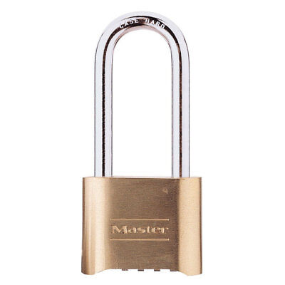 "Master Lock 175LH 2"" x 2-1/4"" Brass Padlock Set Your Own Combination"