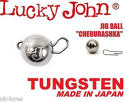 TUNGSTEN JIG HEAD BALL Sinker CHEBURASHKA Lucky John Drop Shot Weight Flexi Head