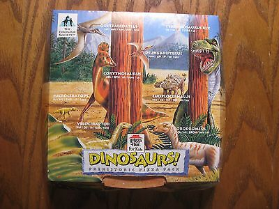 Pizza Hut Kid's Meal Dinosaurs! Empty Pizza Box - 1993