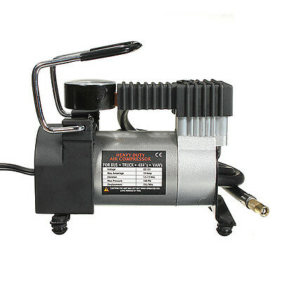 Serviceable  12V Mini Pump Heavy Duty Air Compressor Tire Inflator Gauge Quality