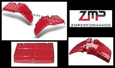 New Honda Atc250Es Big Red Front And Rear Fender Set And Trunk Lid Atc 250Es