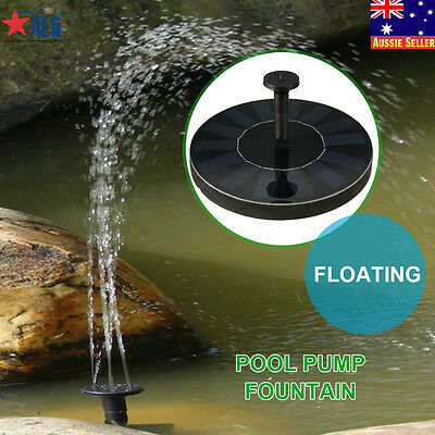 Garden Pond Solar Floating Power Panel Water Feature Pool Pump Fountain