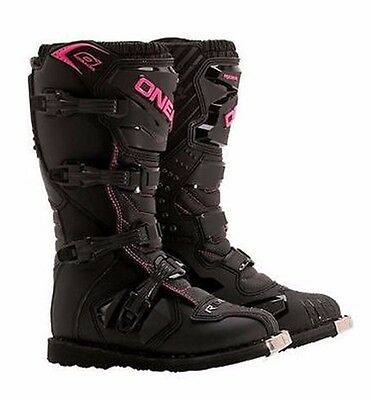 O'Neal ONeal Rider Offroad Motocross Motorcycle Boots Black/Pink FREE SHIPPING!
