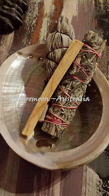 Smudge Pack ✰White Sage ✰Mugwort ✰Palo Santo ✰ XL Shell