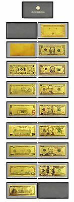 Usa Coloured Album $1.00 - $100 24Kt Gold Limited Edition Coloured Bank Note