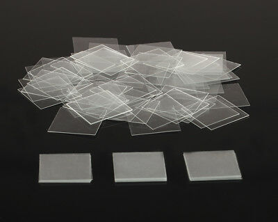 100 Disposable Clear Lab Microscope Cover Glass Coverslip Slides Set Square 22mm