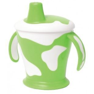Haberman Anywayup Cow Cup 250ml - Green - 6 Pack